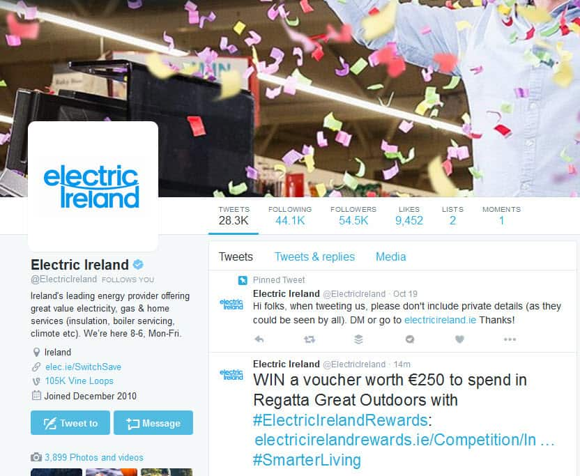 Electric Ireland on Twitter