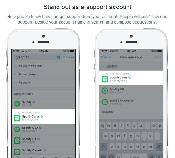 Let people know you offer customer support on Twitter