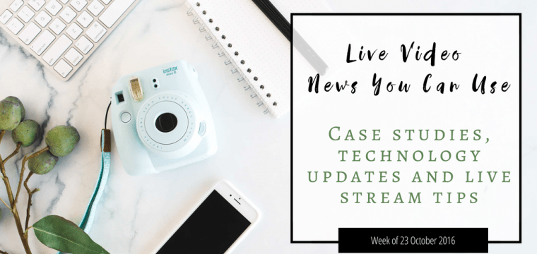 Live video news for week commencing 23 October 2016