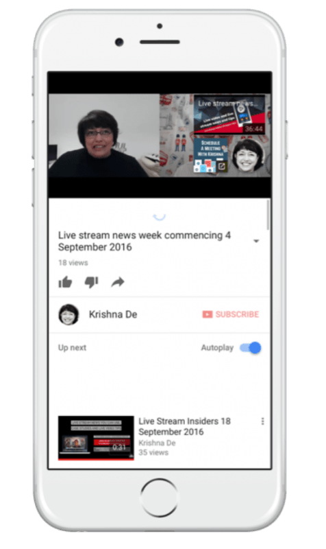 The new YouTube end screens (end cards) will be visible on mobile devices