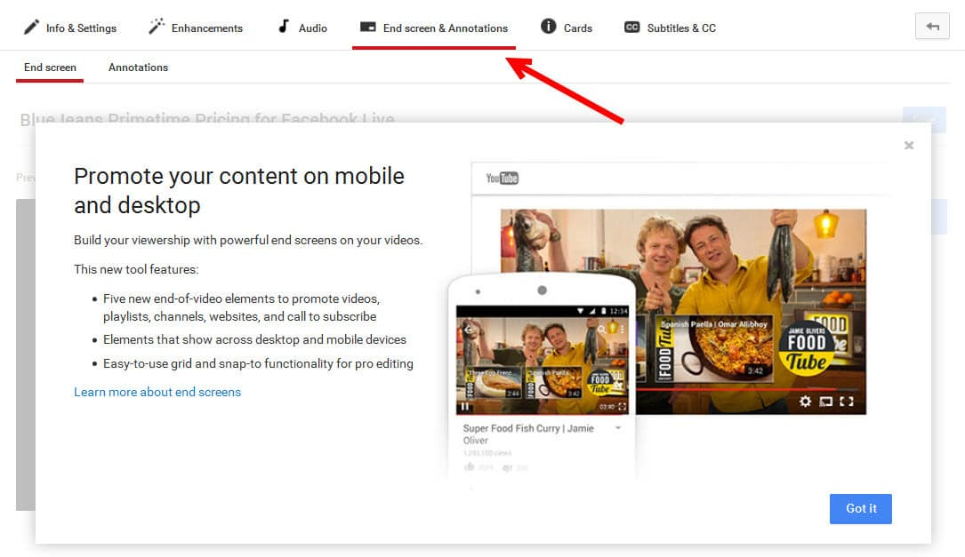 YouTube introduces End Screen annotations for everyone