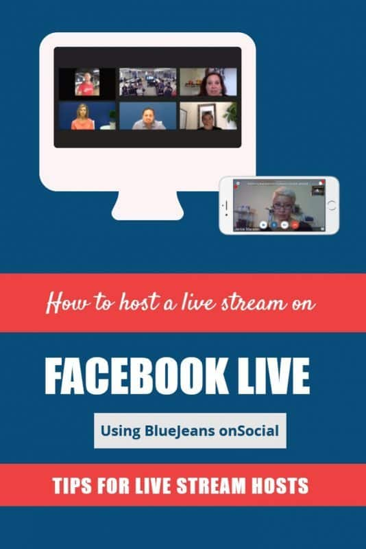 How to host a live stream on Facebook live using BlueJeans onSocial