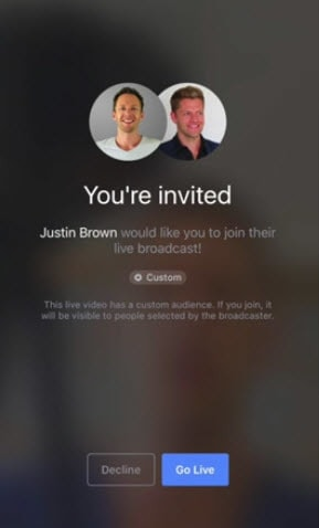 Your guest will see a message inviting them onto the broadcast