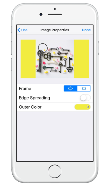 Getting started with SwitcherGo on your iPhone - add a coloured frame to the image