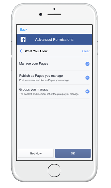 Getting started with SwitcherGo on your iPhone - giving access to your facebook account