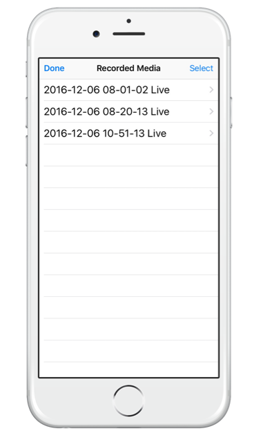 Getting started with SwitcherGo on your iPhone - reviewing your recorded media in the app