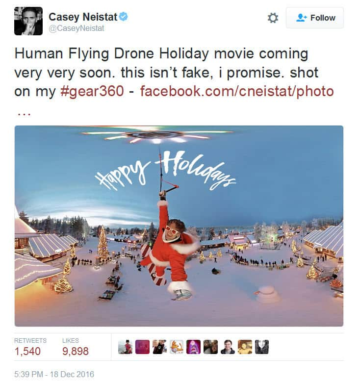 Human flying drone on Twitter