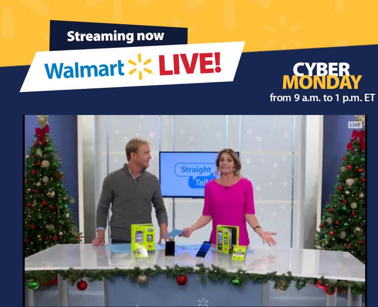 Walmart live Cyber Monday campaign live stream show hosts