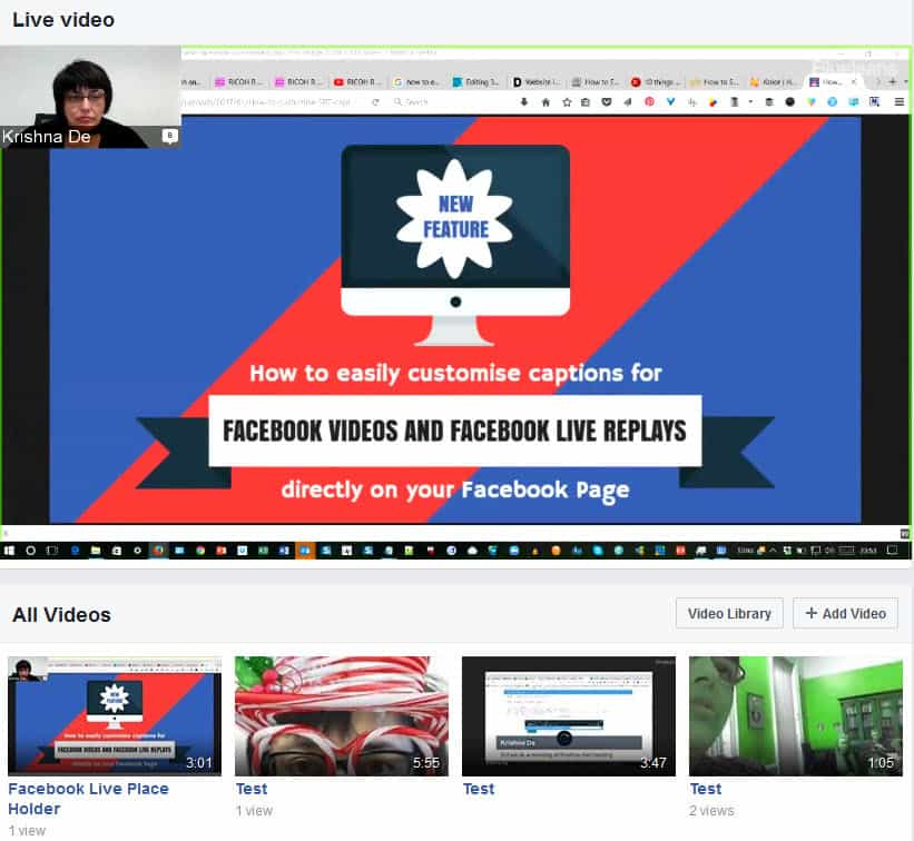 Direct people to your video tab on your page on Facebook to watch your live stream on Facebook Live