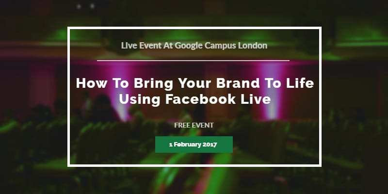 How to bring your brand to life using Facebook Live with Krishna De