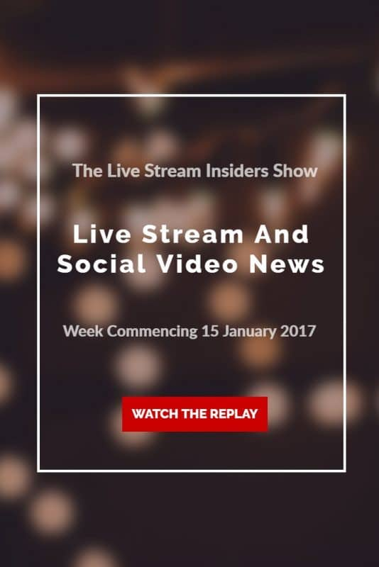 Live Stream Insiders live video news for week commencing 15 January 2017