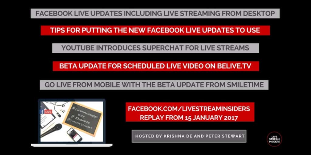Live video news week commencing 15 January 2017