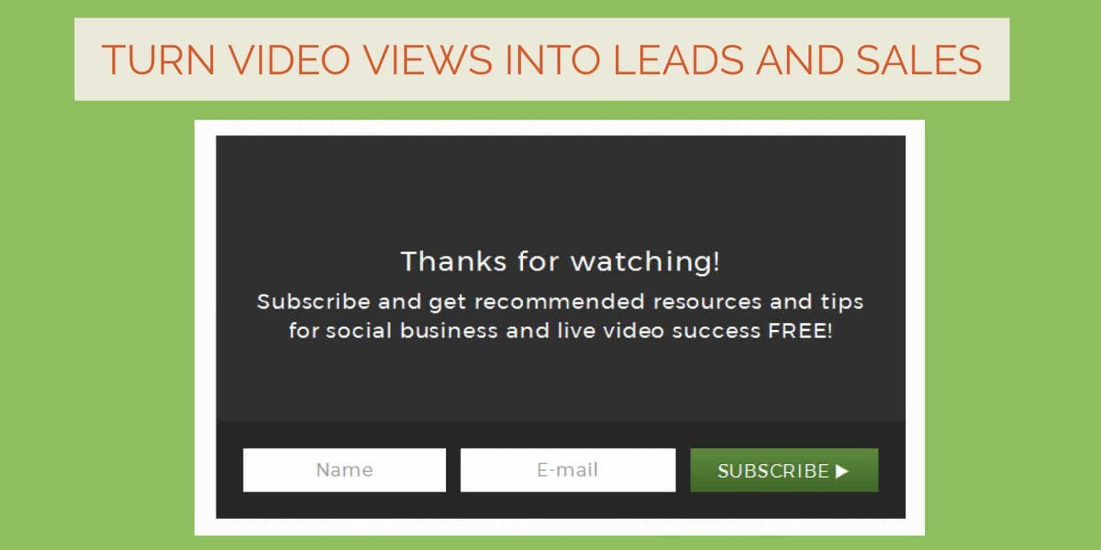 Turn your videos into more social shares, more leads and more sales with this low cost tool that works with Vimeo and YouTube videos