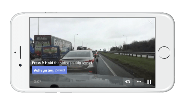 An example of someone live streaming on Periscope when driving curated by Krishna De
