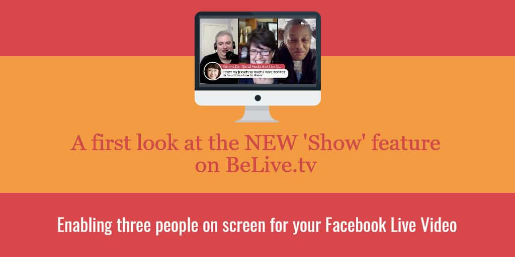 Create Facebook Live streams with three people on screen using BeLivetv