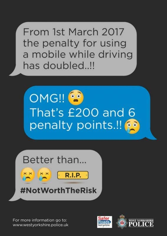 New penalties for using a mobile while driving in the UK from 1 March 2017