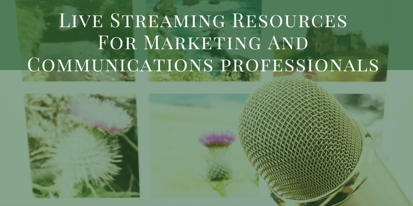 Live Stream Resources For Marketing And Communications Professionals