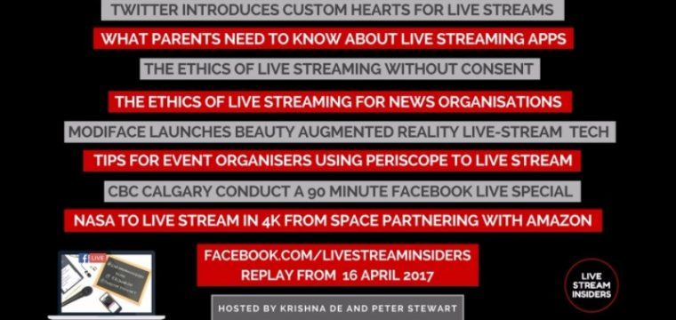 Live Stream News Week Commencing 16 April 2017