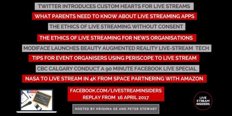 Live video news week commencing 16 April 2017