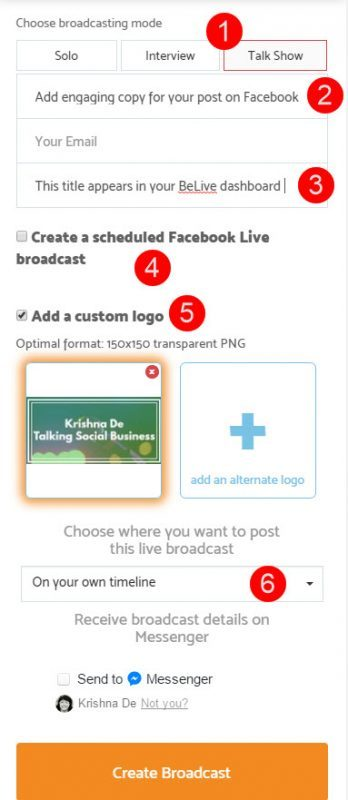 BeLive Talk Show now enables screen sharing Take these steps to plan your live stream with screen sharingm