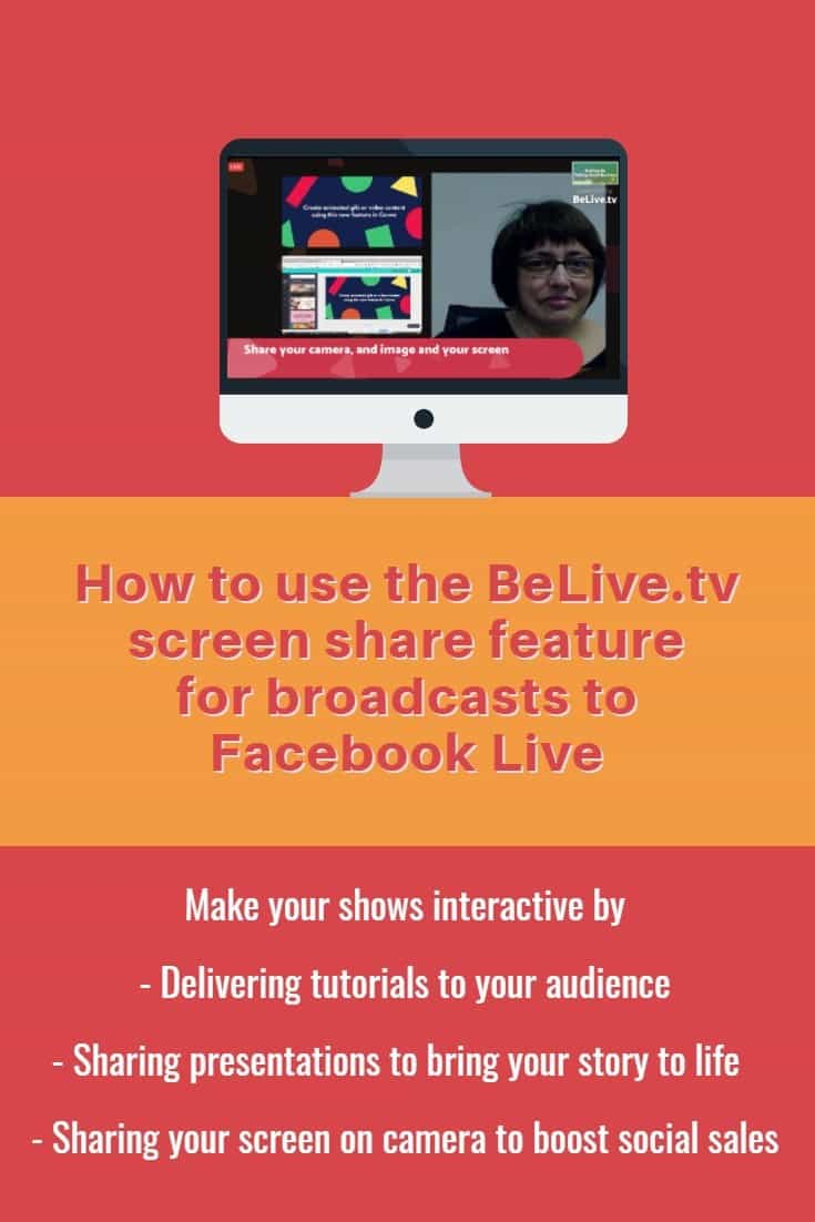 How to use the BeLive.tv Talk Show feature for Facebook Live broadcasts from your desktop and the ability to share your screen