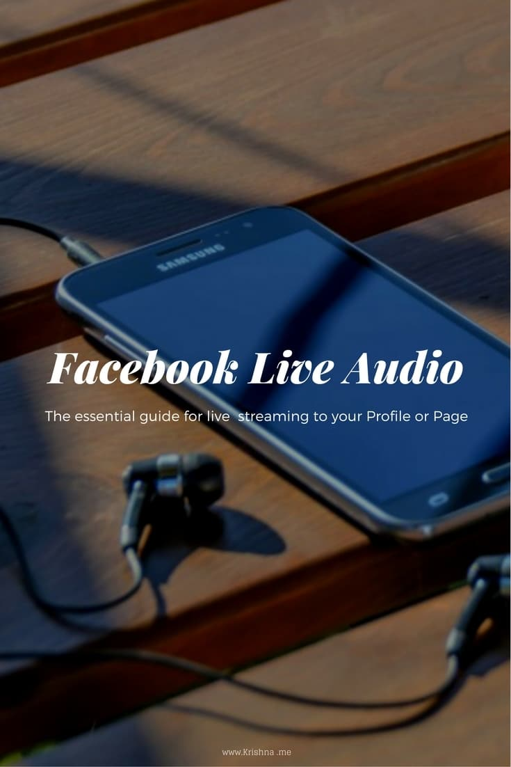 A step by step guide to using Facebook Live audio on your Android phone to stream live to your Facebook Profile or Facebook Page