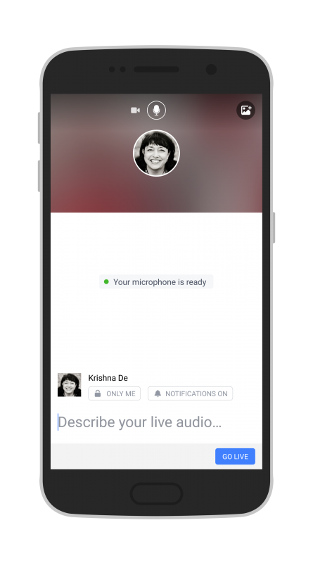 Facebook Live Audio on Android Add a relevant title to your live stream