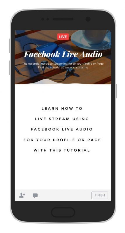How to live stream using Facebook Live Audio to your Facebook Profile or Facebook Page