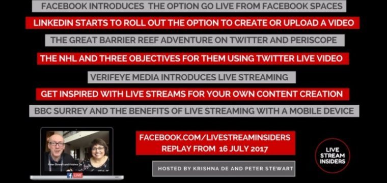 Live Stream News Week Commencing 16 July 2017