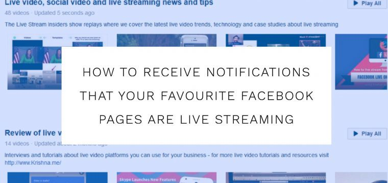How to turn on notifications for live videos for your favourite Facebook Pages on desktop and mobile