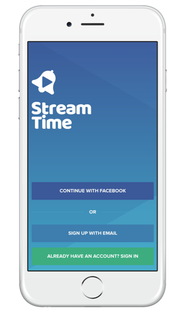 Using Stream Time app to grow your live stream audience - register for the platform