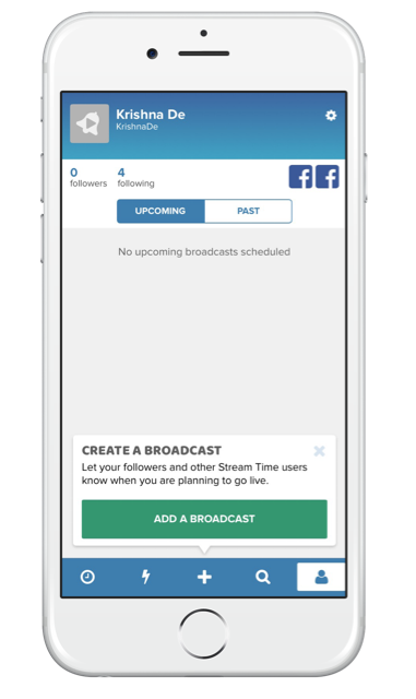 Using Stream Time app to grow your live stream audience - add your broadcasts