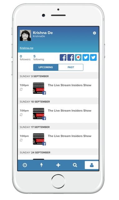 Using Stream Time app to grow your live stream audience - review your scheduled live streams