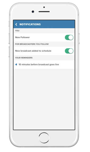 Using Stream Time app to grow your live stream audience change your notificaiton settings