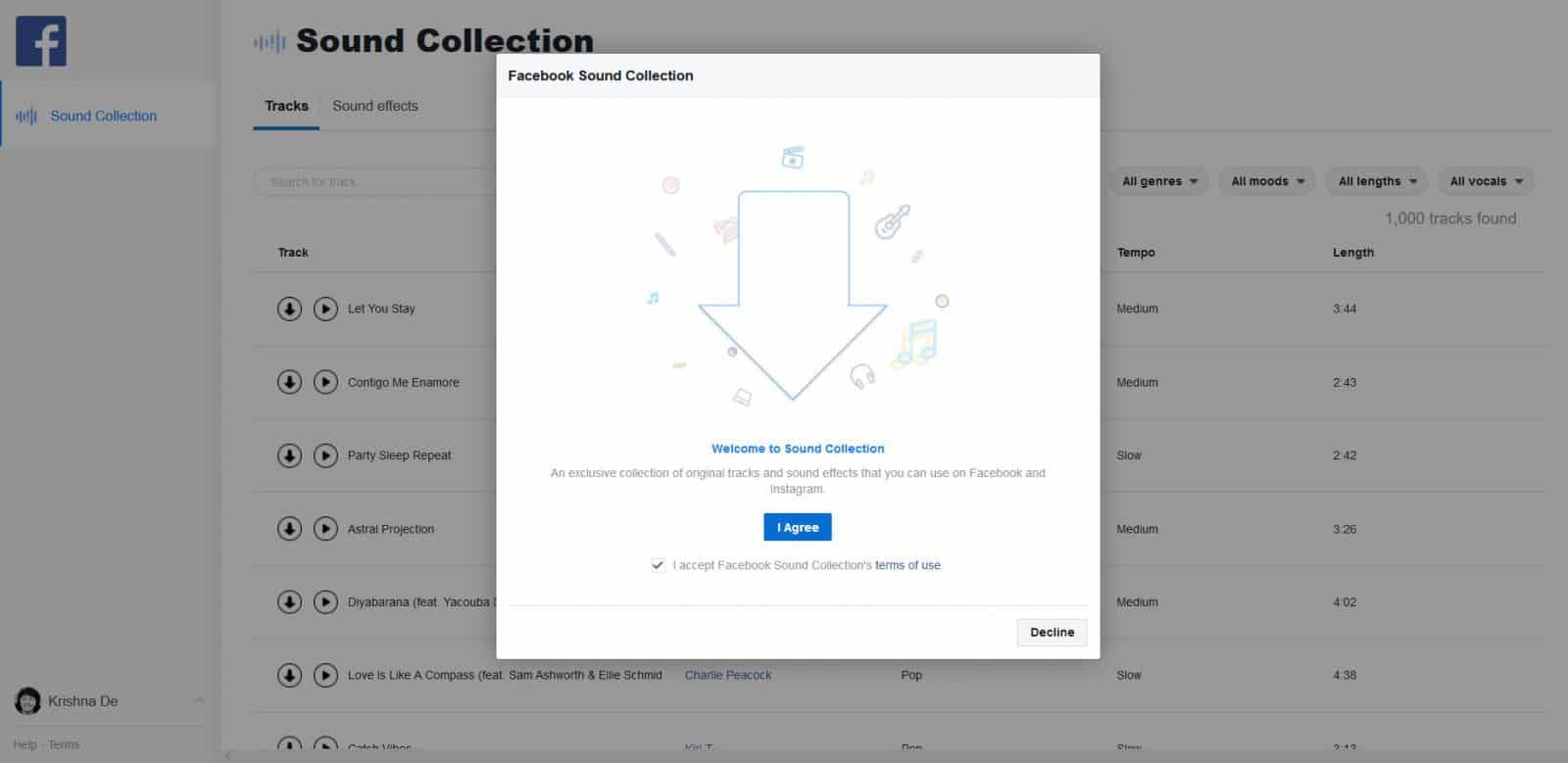 Facebook Sound Collection Tool