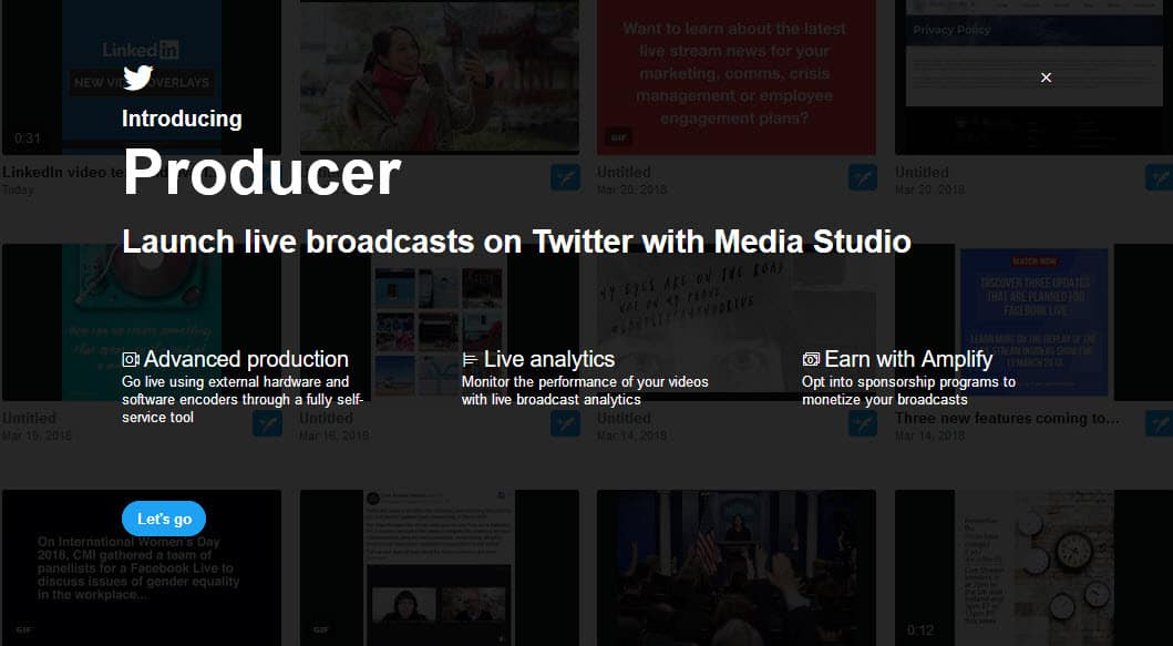 Launch live broadcasts on Twitter using Twitter Media Studio