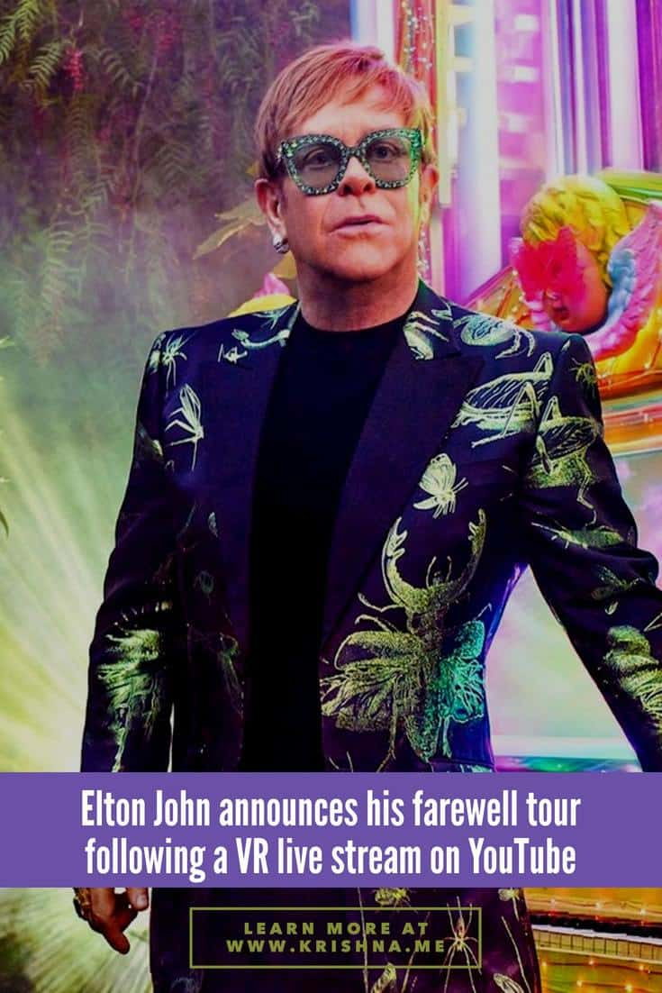 Elton John announces his worldwide