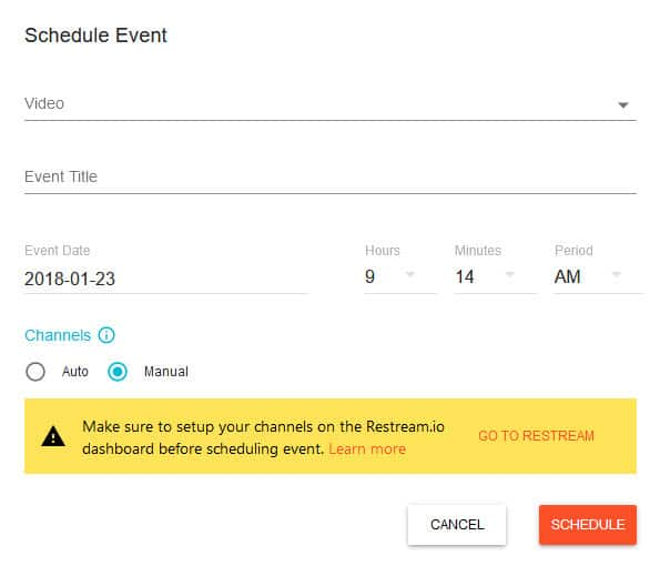 How to broadcast and schedule recorded videos as live streams with Restream - schedule your live stream