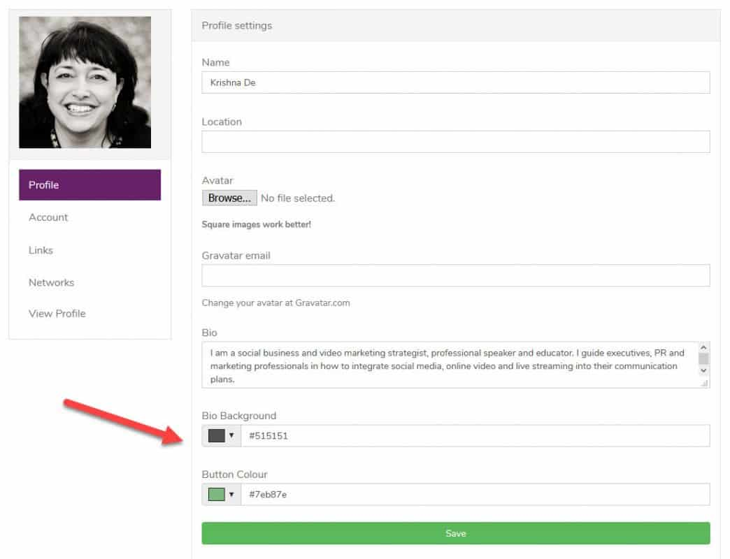How to create a hub for your important online links - customise your profile