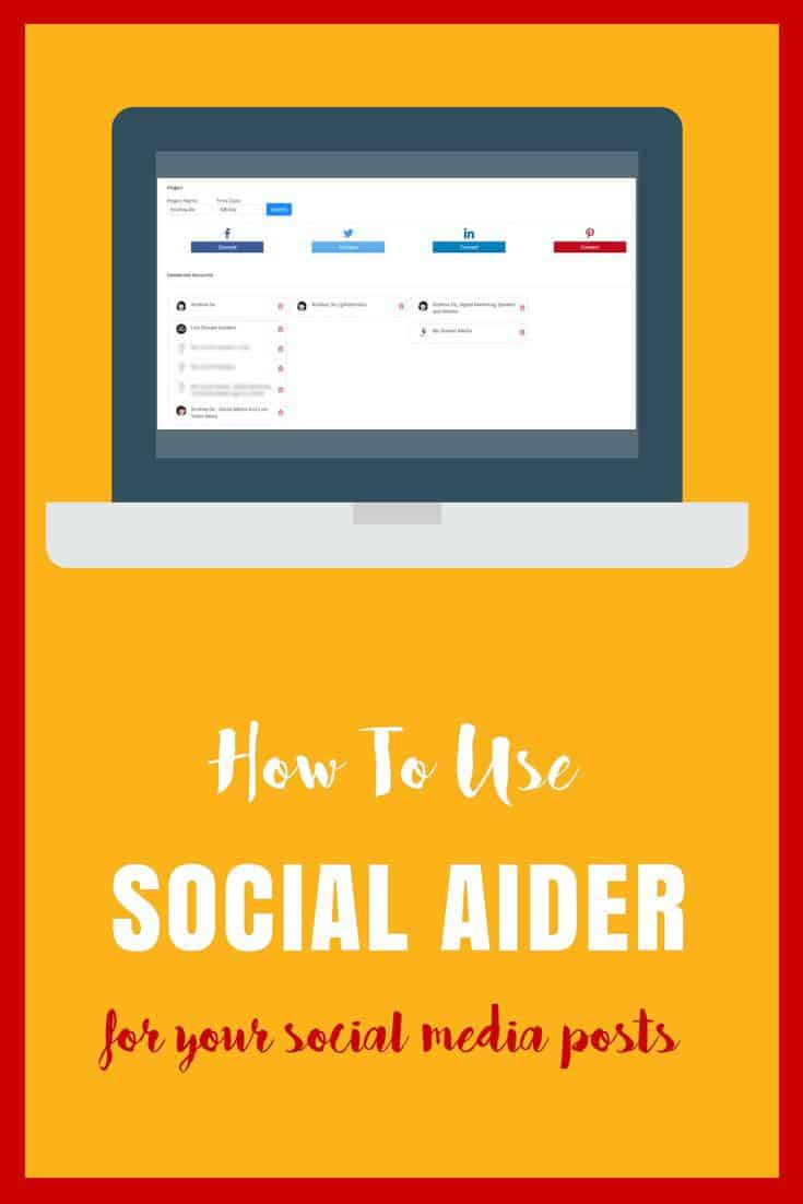 How to use Social Aider for your social media image posts including to unlimited numbers of social media accounts