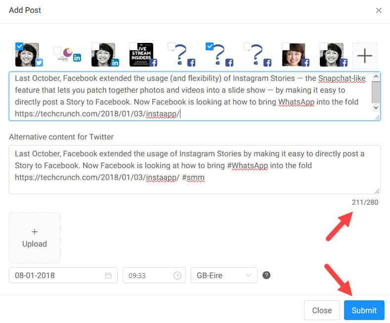 How to use Social Aider for social media content sharing 07