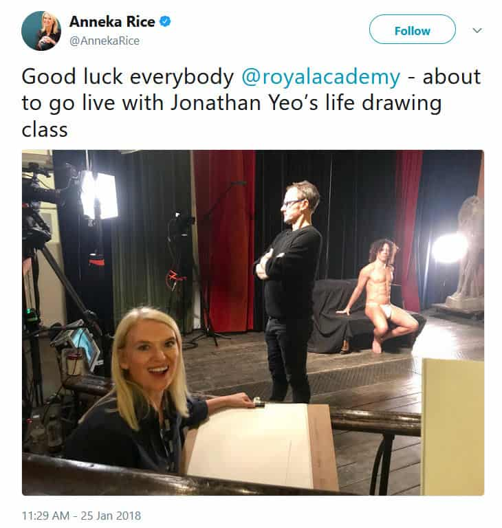 The Royal Academy Life Drawing Live Stream #LifeDrawingLive