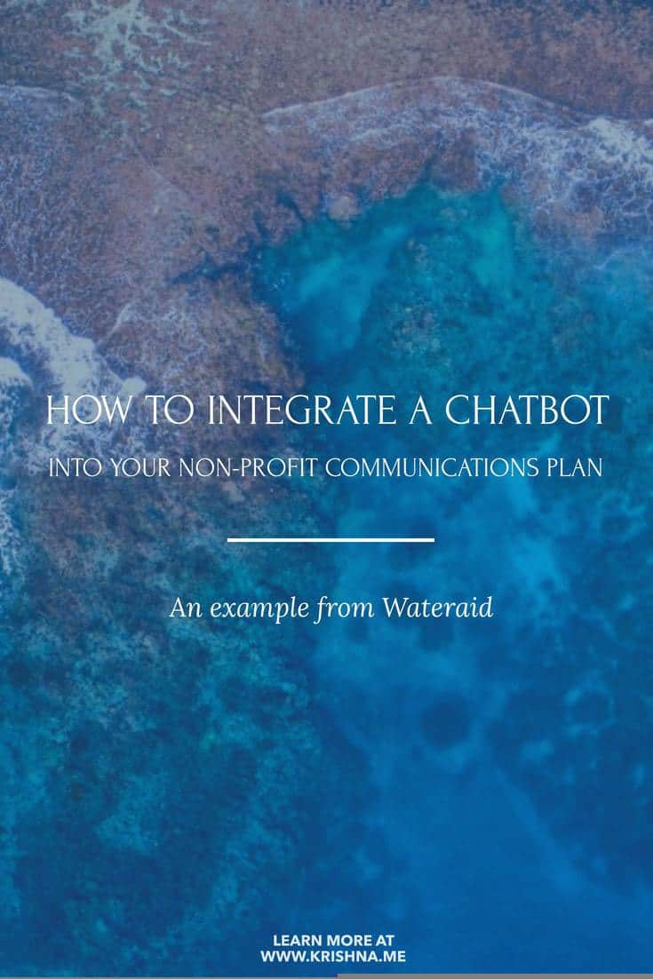 How to integrate Facebook Messenger chatbots to support your non-profit communications plans and campaigns #chatbot