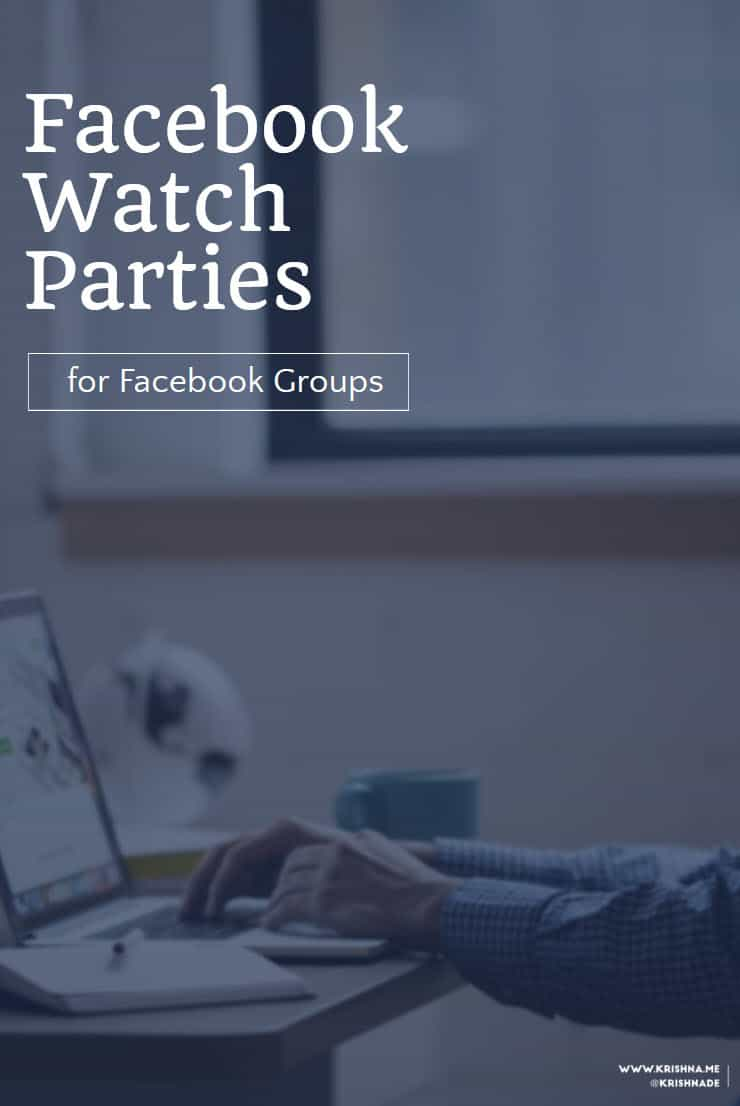How to set up a Facebook Watch Party and add value and entertainment to engage your Facebook Group members #Facebook #videomarketing #socialvideo #FacebookLive