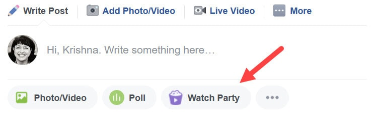 How to use Facebook Watch Party as an admin of a Facebook Group 01