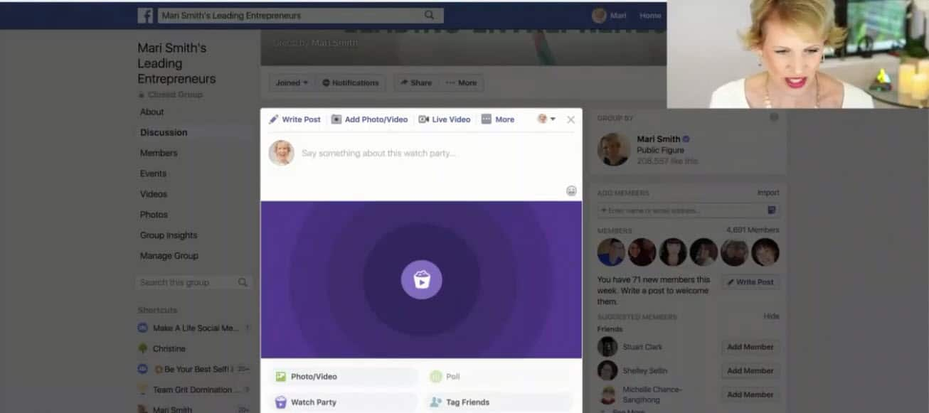 How to use Facebook Watch Party as an admin of a Facebook Group 03