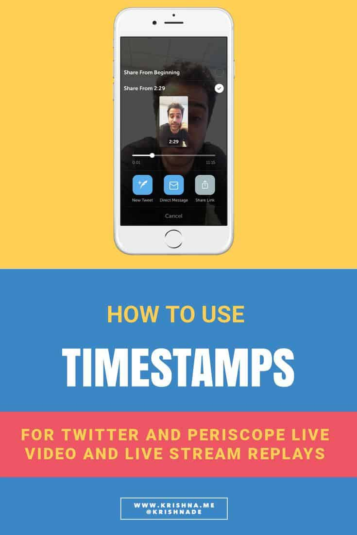 How to use Timestamps for Twitter and Periscope live video and live stream replays #livevideo #videomarketing #livestream