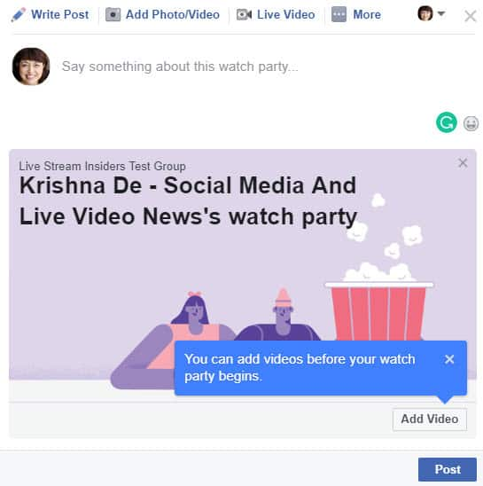 How to host a Facebook Watch Party for your Facebook Group members