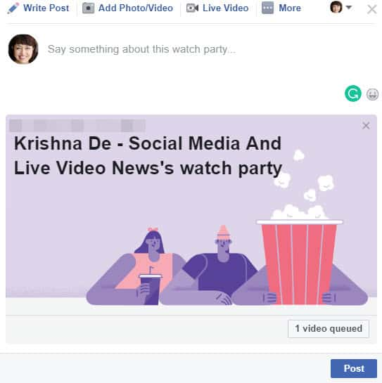 How to host a Facebook Watch Party for your Facebook Group members 08