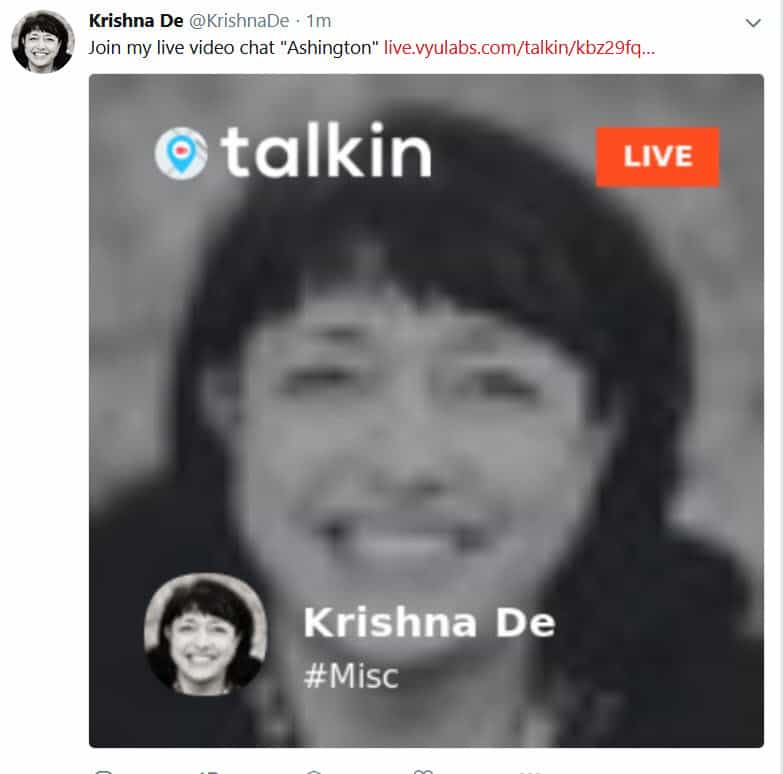 How to use the live stream app Talkin Live for geo targetted conversations